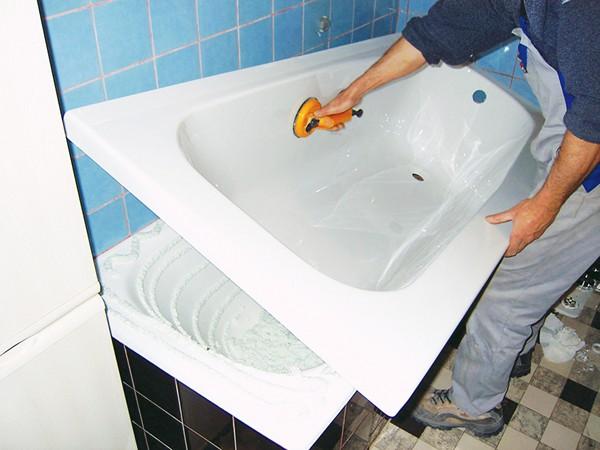 технология реставрации ванн с помощью акрилового вкладыша