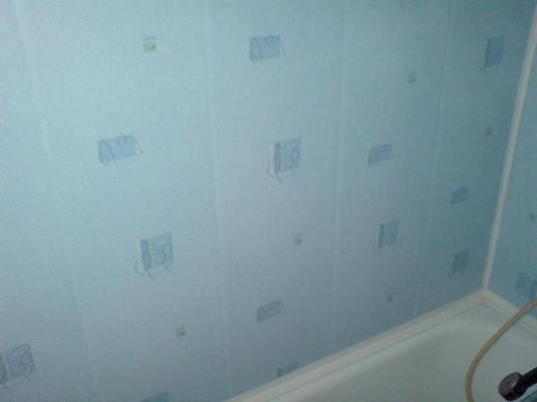 отделка ванной стеновыми панелями фото
