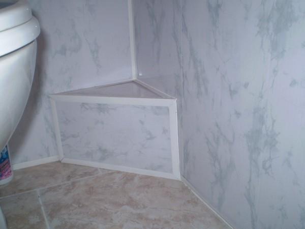 ремонт ванной стеновыми панелями фото