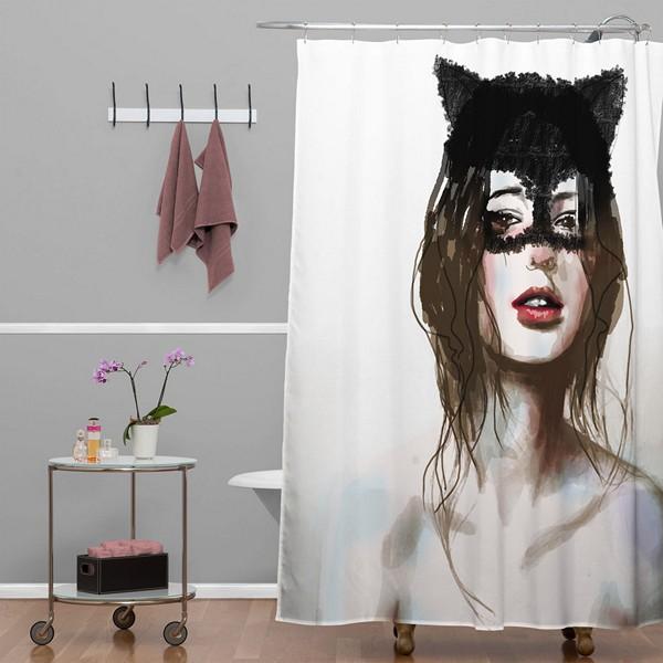 шторки для ванной комнаты фото