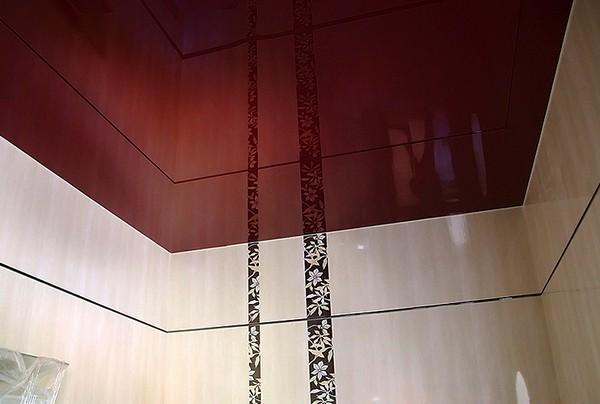 как производится установка натяжного потолка в ванной