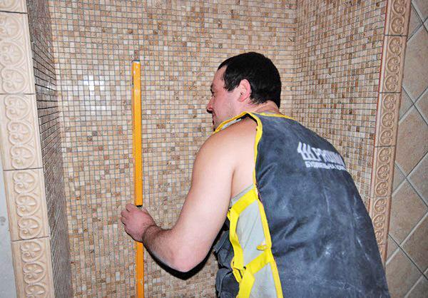 отделка ванной комнаты мозаикой своими руками фото