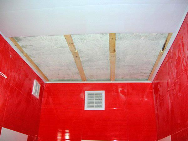 как установить подвесной потолок в ванную комнату