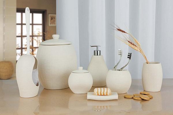керамические аксессуары для ванной комнаты фото