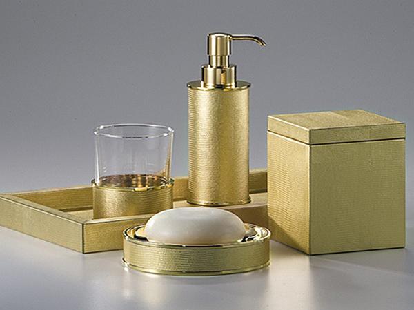аксессуары для ванной под золото фото