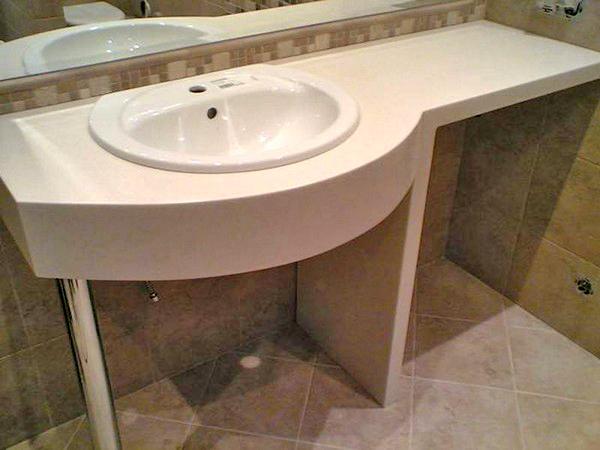 Столешница для ванной: как выбрать лучший вариант, Ремонт и дизайн ванной комнаты