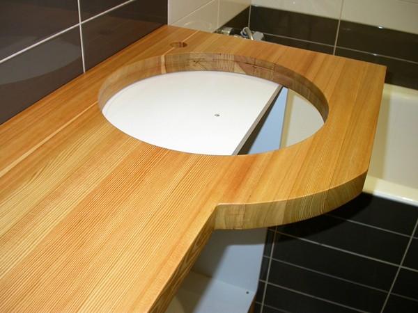 из чего сделать столешницу в ванную