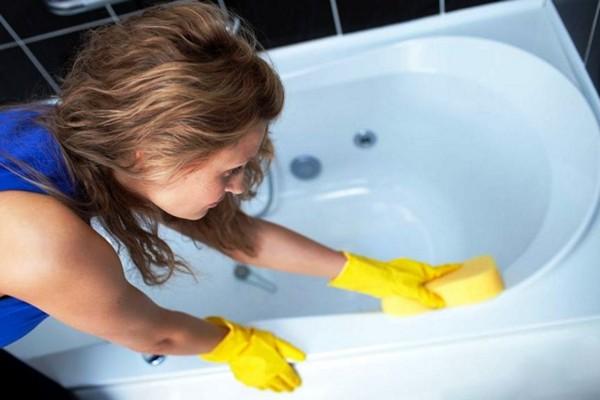 как ухаживать за акриловой ванной фото