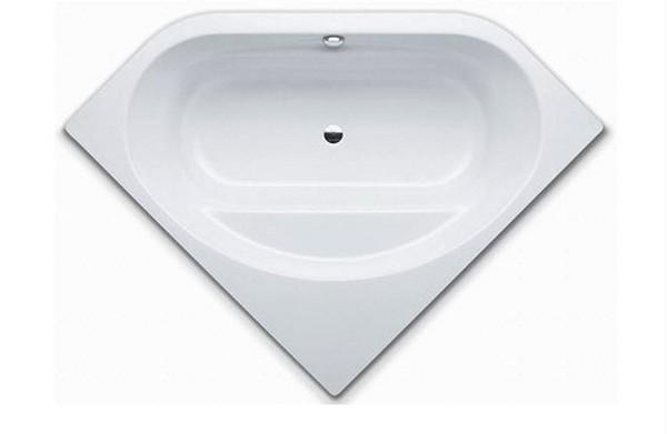 стальная угловая ванна фото