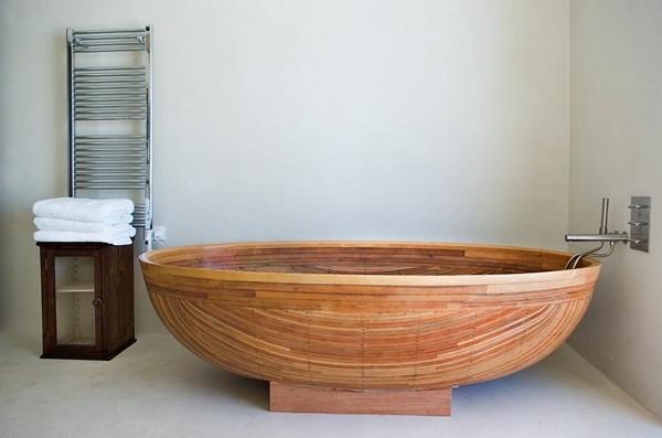 преимущества деревянных ванн
