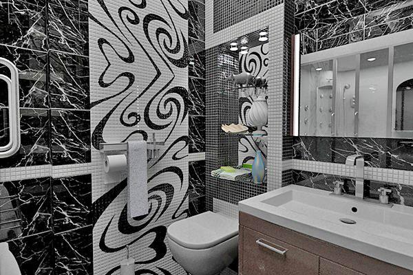 панно из мозаики для ванной фото