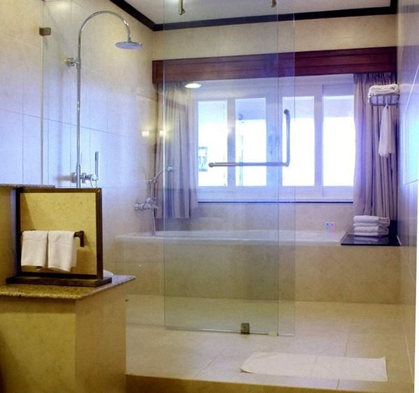 стеклянная перегородка для ванной фото
