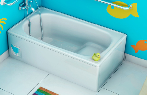 сидячая акриловая ванна фото