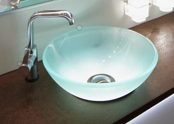 раковина из стекла для ванной фото