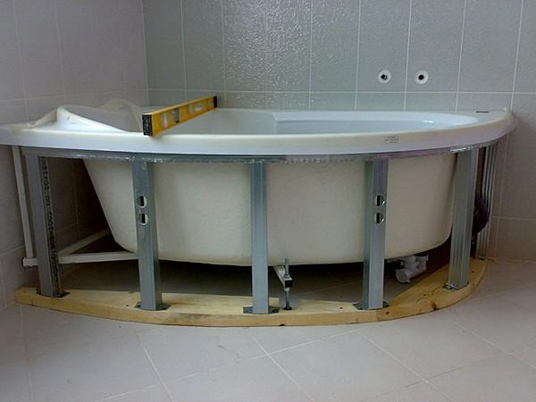 экран под ванну из гипсокартона фото