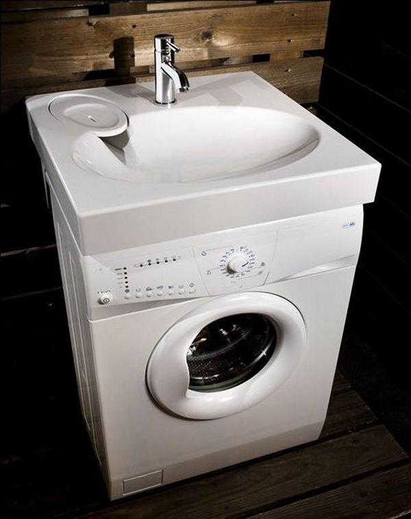 Раковина со стиральной машиной фото