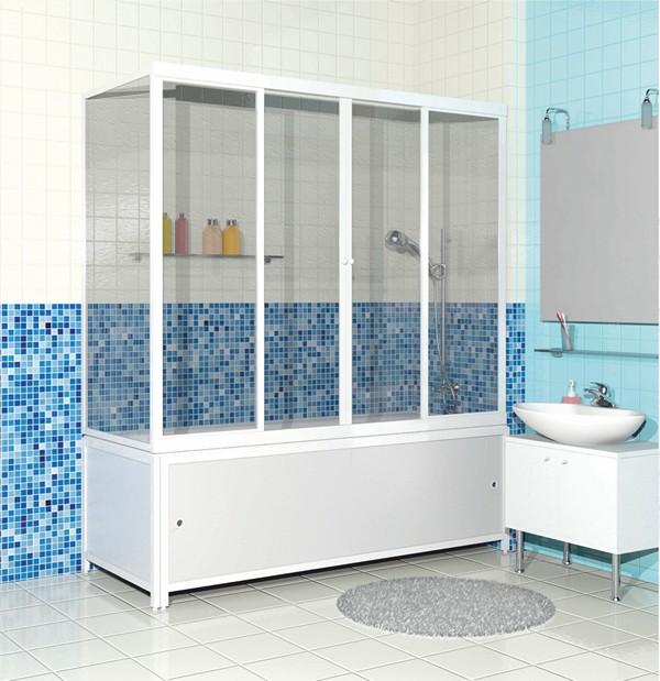 раздвижные стеклянные шторы для ванной фото