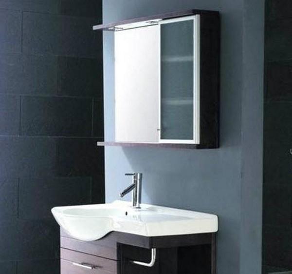 зеркальный навесной шкаф для ванной фото