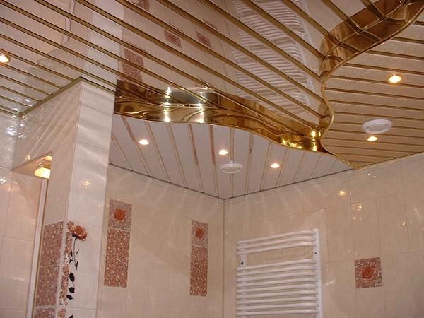 как сделать пластиковый зеркальный потолок в ванной