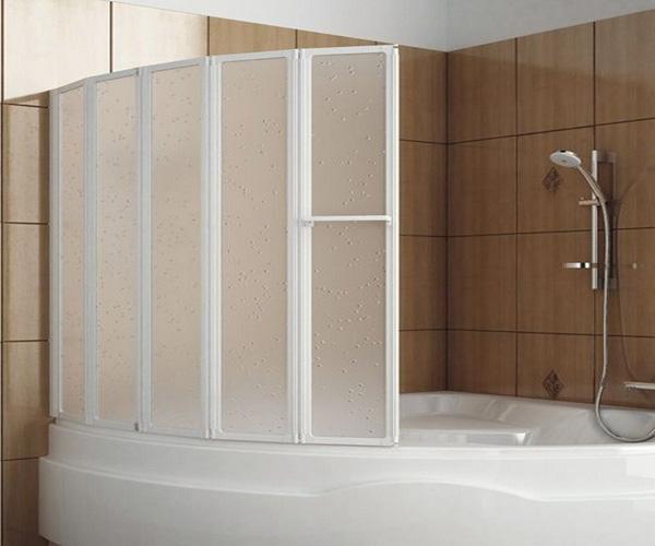 угловая ванна с душевой кабиной фото