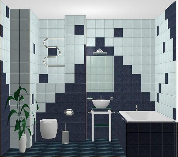 Дизайн кафельной плитки в ванной: Дизайн плитки в ванной: варианты укладки