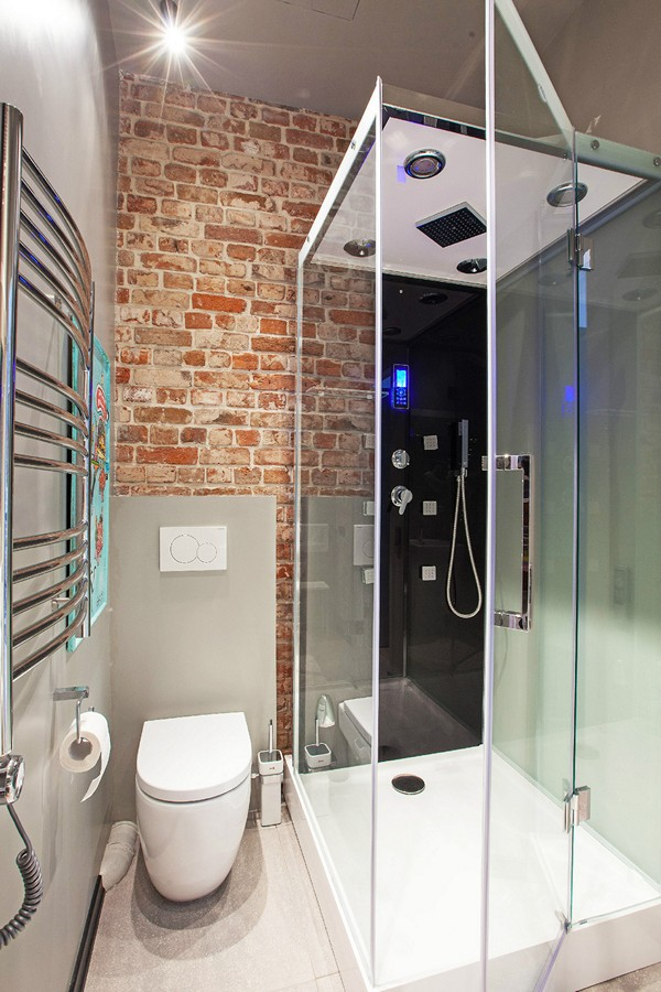 дизайн ванной в стиле лофт фото