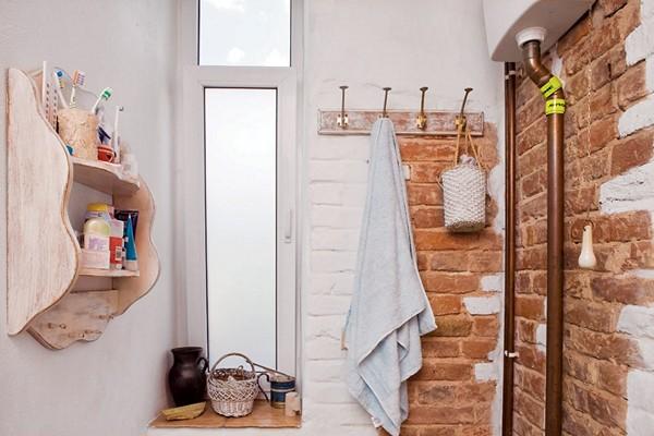 как оформить стены в ванной в стиле лофт