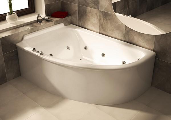 ванна из литьевого мрамора угловая фото