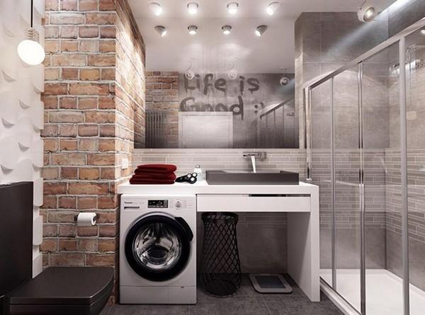 ванная в стиле лофт фото