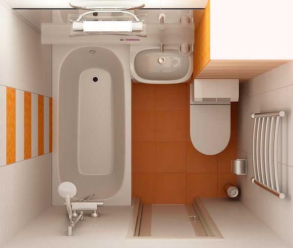 отделка ванной 4 кв м фото