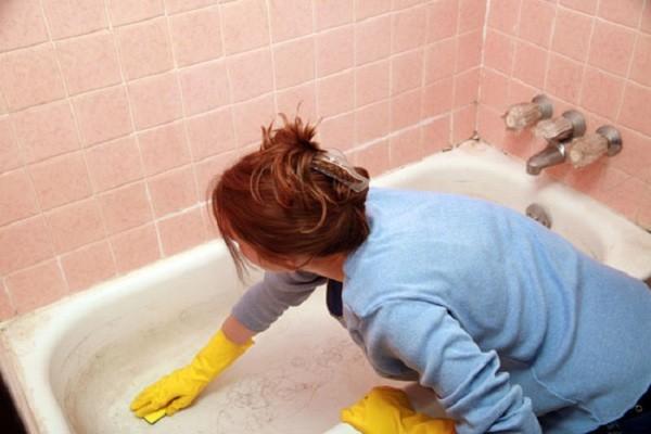 как отбелить эмалированную ванну фото