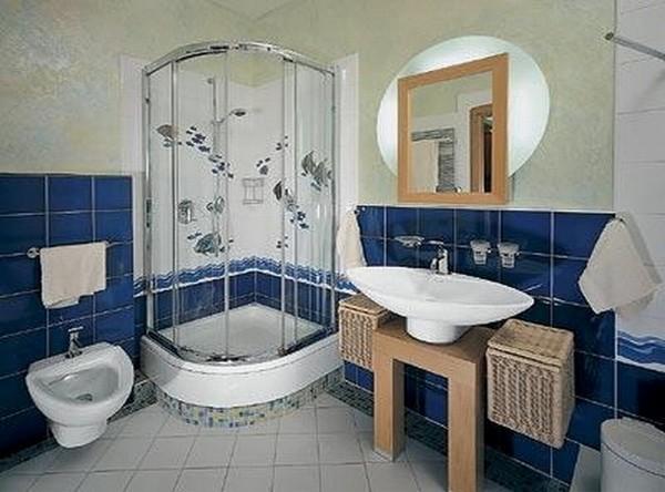 как оформить ванную комнату с душевой кабиной фото