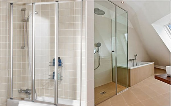 стеклянная ширма для ванны фото