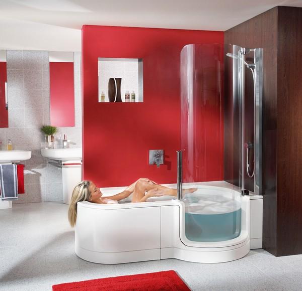 ванная комната с душевой кабиной и туалетом фото