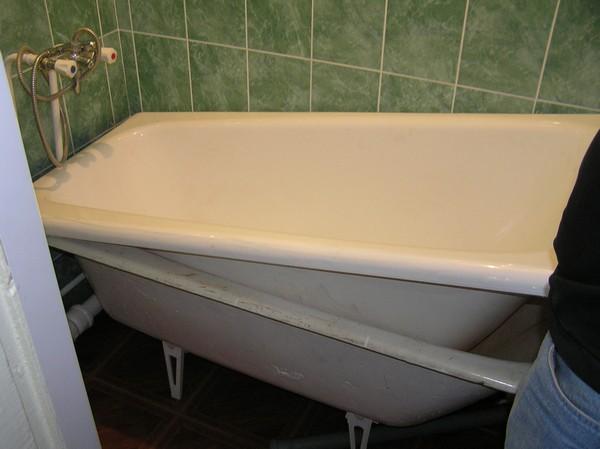 ремонт сколов чугунных ванн фото