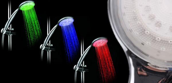 светодиодный душ с подсветкой воды фото