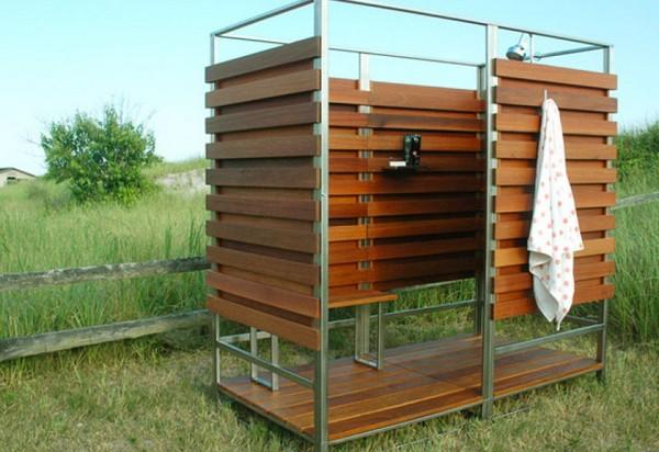 деревянная душевая кабина для дачи фото