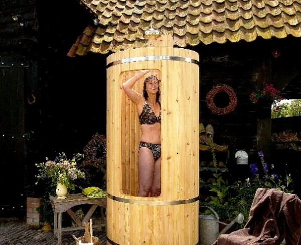 душевая кабина для дачи с подогревом воды фото