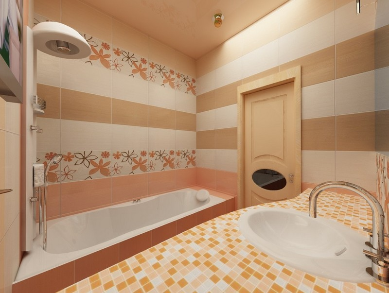 Дизайн ванны квартире плитка 102