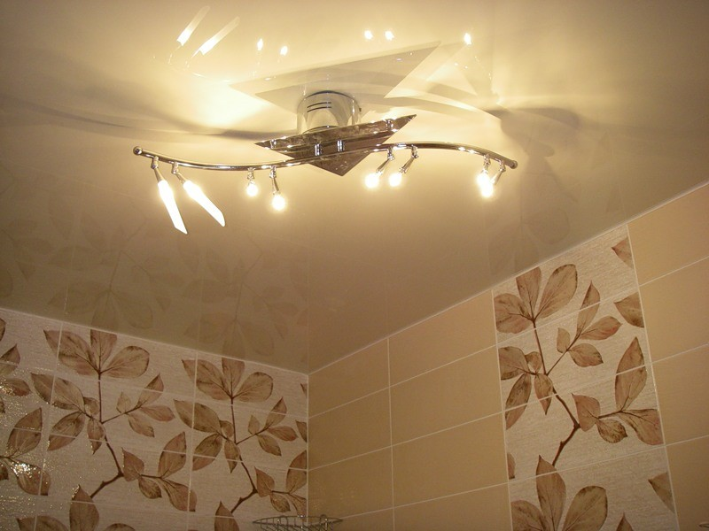 потолочные светильники для ванной  фото