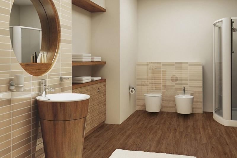 линолеум для стен в ванной фото