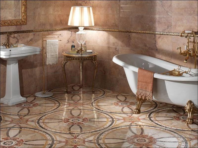 напольная плитка для ванной фото
