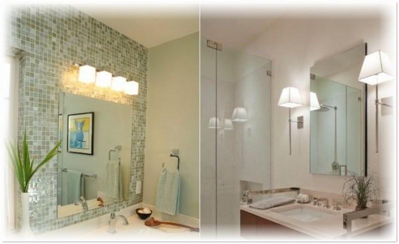 настенные светильники для ванной фото