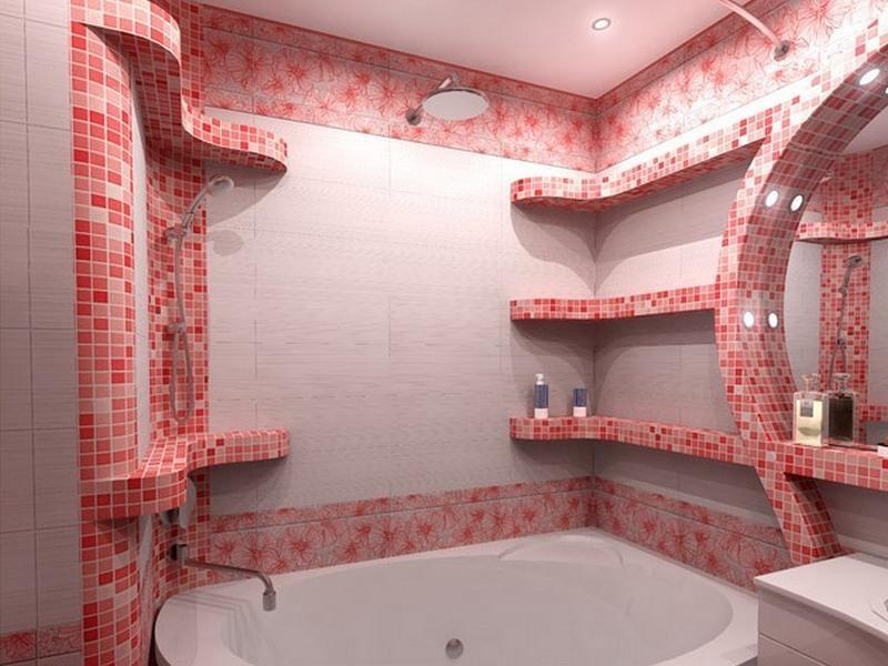 пластиковая мозаика для ванной фото