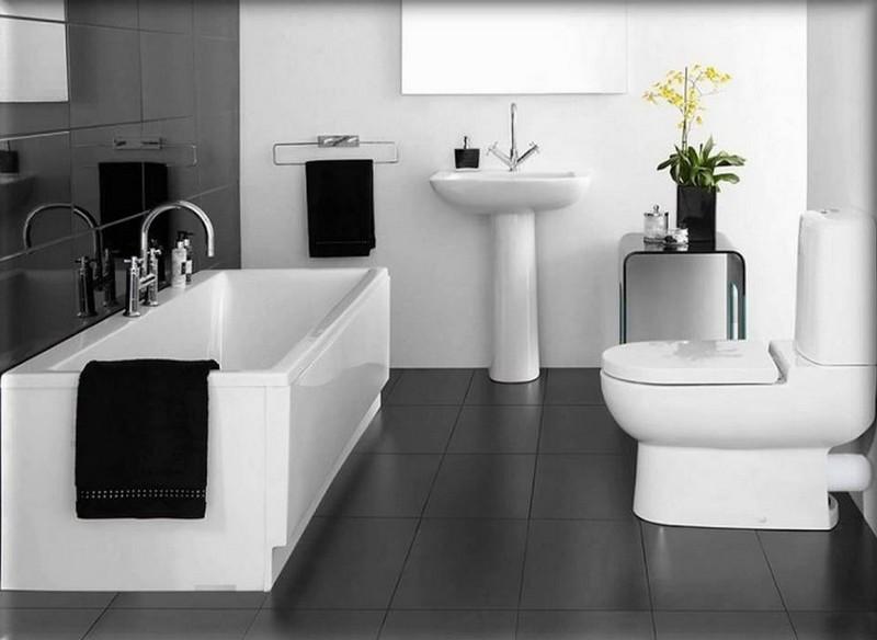 интерьер ванной в стиле минимализм фото