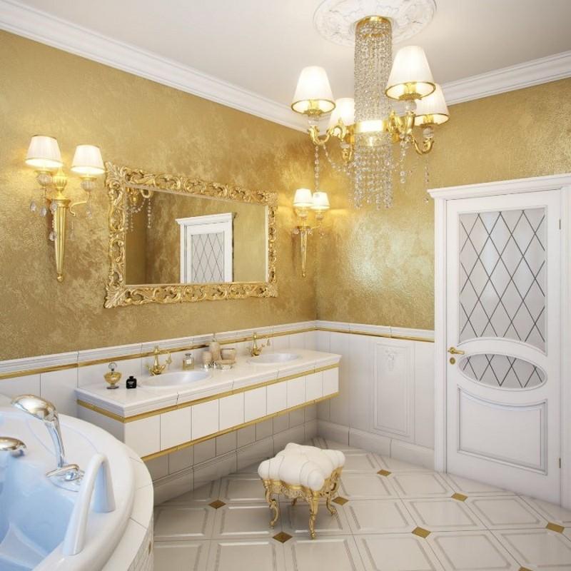 декоративная штукатурка в ванной фото
