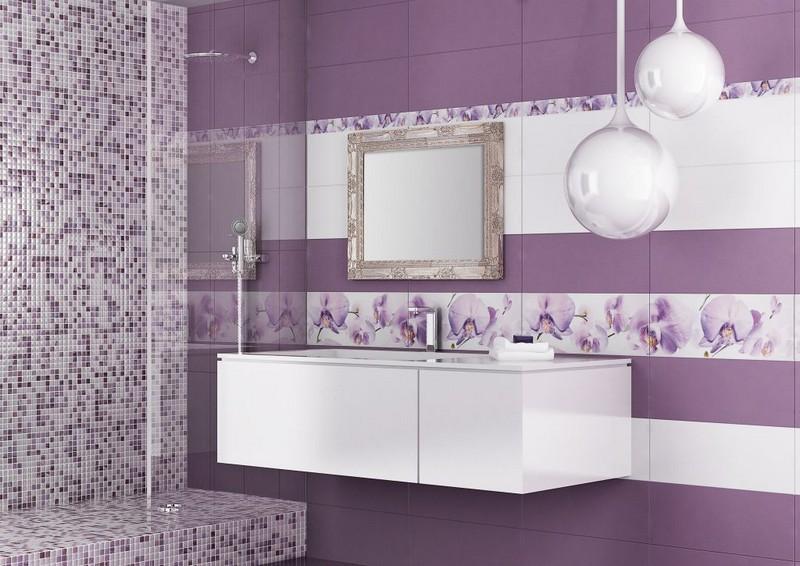 дизайн плитки в ванной комнате фото