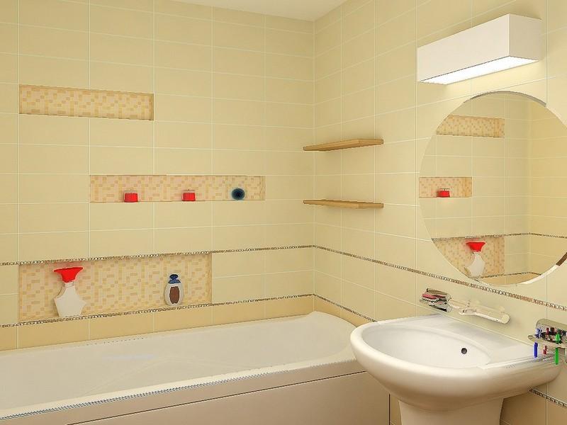 ниша с полками в ванной фото