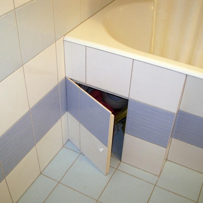 Ниши под ванной своими руками 72