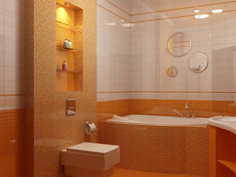 полки в нише в ванной фото